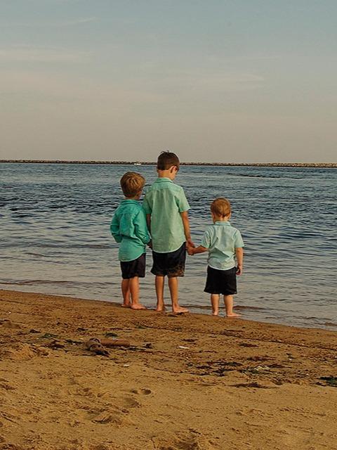 Boys on beach resized